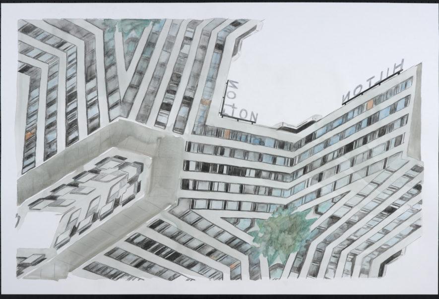 City drawers 2018. Hilton Hotel by Marcha van der Hurk