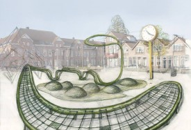 De Klimplant, design sketch Christine Saalfeld for Bloemhoflplein